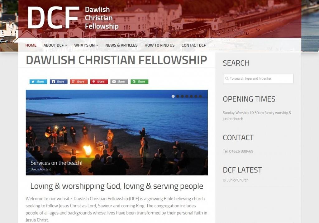 DCF website - Dawlish - web design