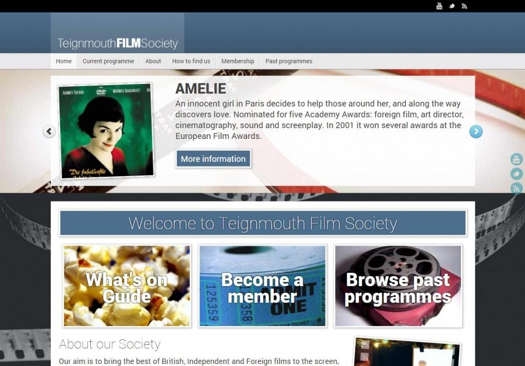 Teignmouth Film Club - web design