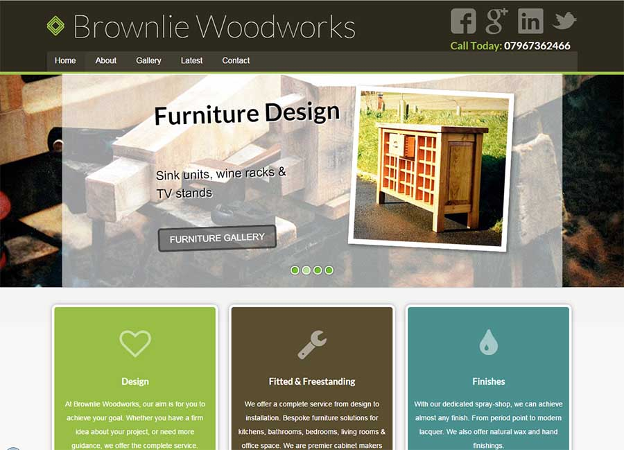 Brownlie Woodwork Carpenters - web design - Dawlish