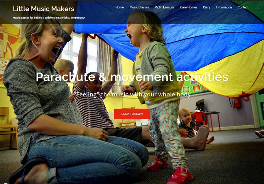 Little Music Makers - web design - Dawlish