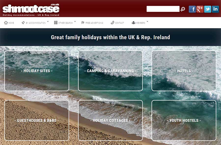 Shmootcase holiday directory - web design