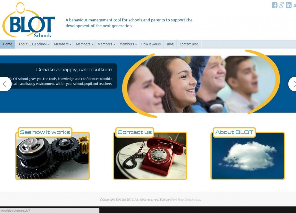 BLOT education - web design