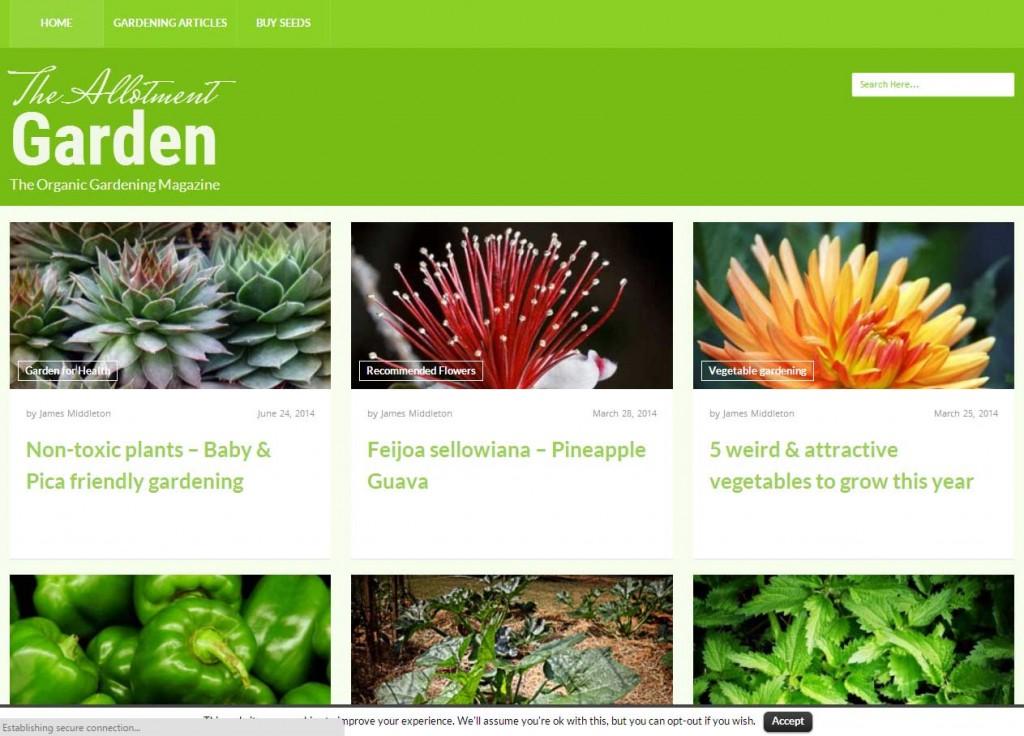 Gardening - web design