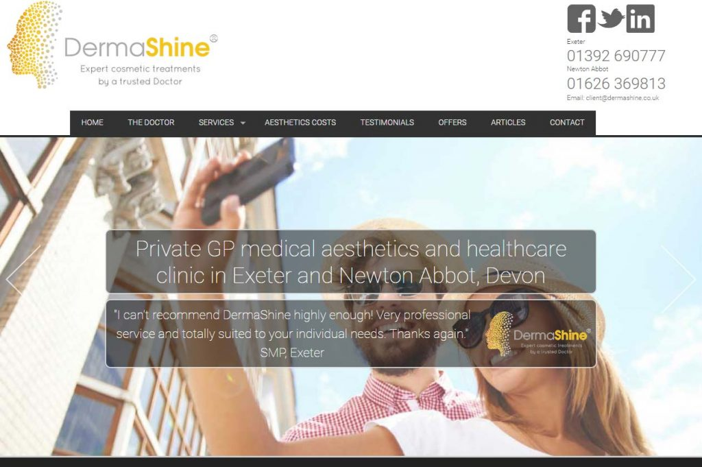 Dermashine services website