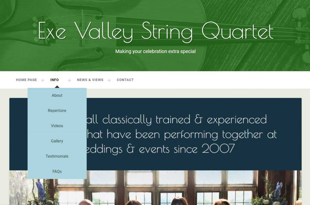 Exeter Valley String Quartet Website