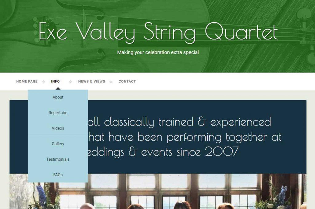 Exeter Valley String Quartet Website